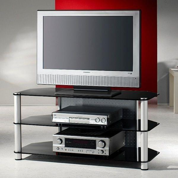 meuble tv pour crans lcd plasma led aluminium et verre de s curit made in germany. Black Bedroom Furniture Sets. Home Design Ideas