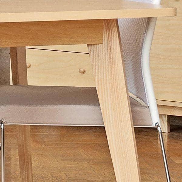 Table KENSAY avec ou sans rallonges, inspiration nordique de grande qualité - placage chêne certifié FSC et chêne massif pour la structure