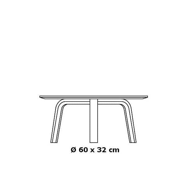La Table basse Bella par HAY, table d'appoint, table de chevet