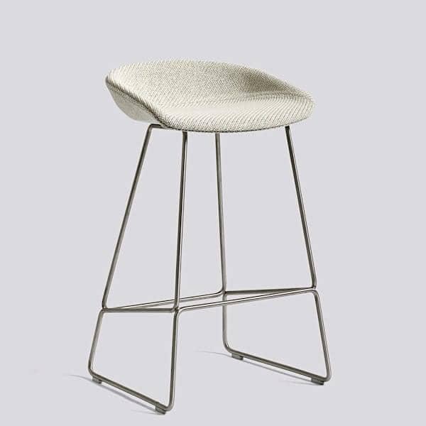 tabouret de bar about a stool aas39 acier et tissu hay. Black Bedroom Furniture Sets. Home Design Ideas