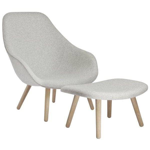 Repose pieds OTTOMAN pour la série de fauteuils About a Lounge Chair - réf. AAO03 - un grand choix de coloris, 3 finitions pour le piétement