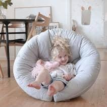 LITTLE NEST, en kokong stol, som også er en futon, koselig og behagelig for barnet ditt - deco og design