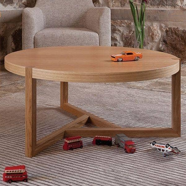 SCANDIWOOD Coffee table  - made with nice solid oak and wood veneer, a warm ambiance