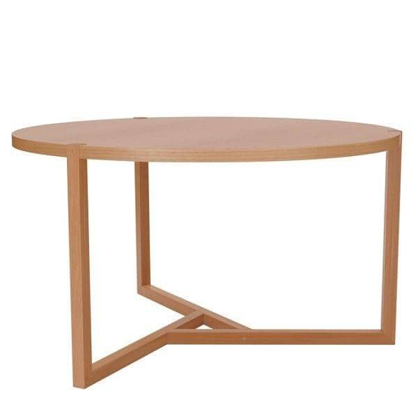 Grande table ronde collection scandiwood en ch ne massif for Table ronde en chene