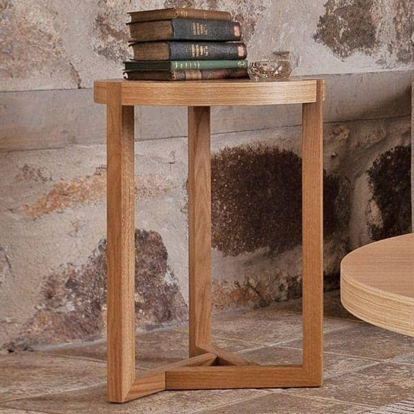 SCANDIWOOD שולחן צד - עשה עם אלון יפה מוצק ופורניר עץ, אווירה חמה - אקולוגי, דקו ועיצוב