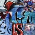 Blue Graffiti 3 - Graffitis - Design by Urban Home