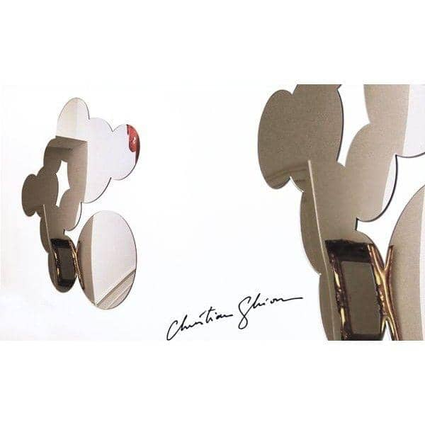 Miroir décoratif BUBBLES par Christian Ghion - formes douces - 76 x 96 cm