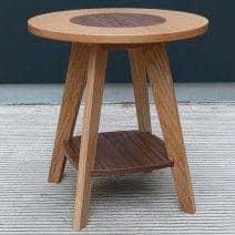 Table d'appoint en chêne et noyer KENSAY - Créée par Leonhard Pfeifer - déco et design
