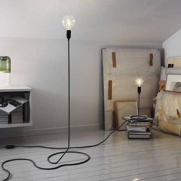 CORD LAMP Table Lamp Transforms The Electric Wire Into Foot Of Standard  Lamp ...