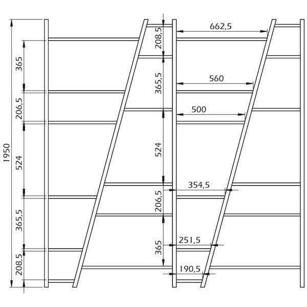 étagères 1 à 5 colonnes DELTA en bois, réversibles, laquage mat - design temahome