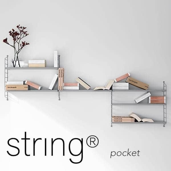 STRING POCKET modulares Regalsystem, die ursprüngliche Version, in Schweden gefertigt. - Deko und Design