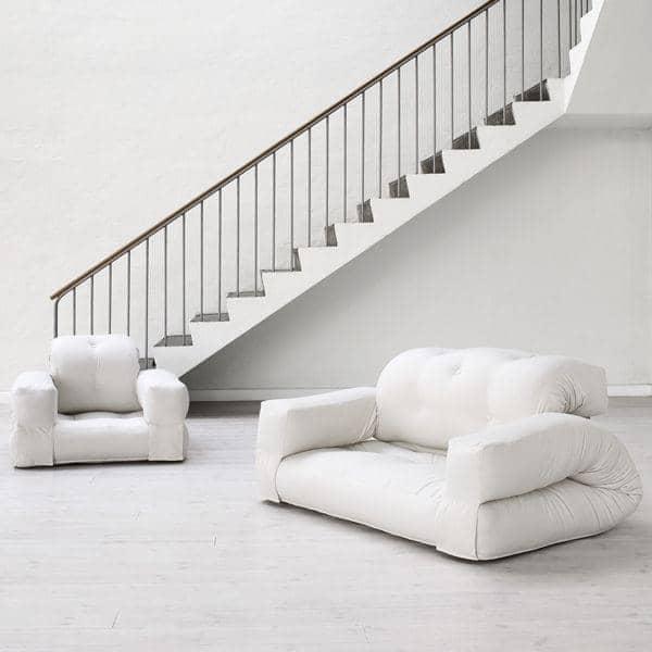 Hippo un sill n o un sof que se convierte en un c modo for Sillon futon cama