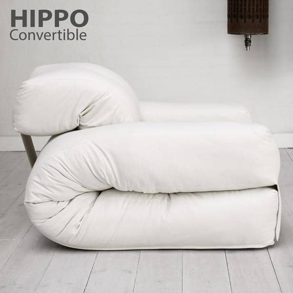 Hippo An Armchair Or A Sofa That Turns Into Comfortable Extra Futon Bed