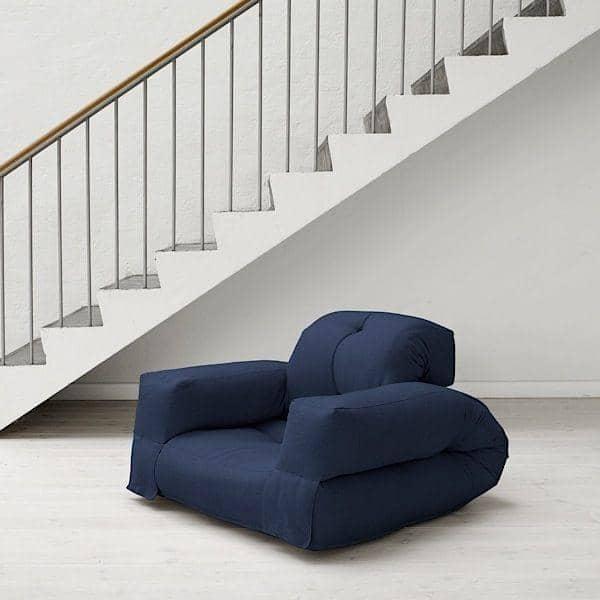 HIPPO, en lænestol eller en sofa, der bliver til en komfortabel ekstra futon seng i sekunder - Deco og design