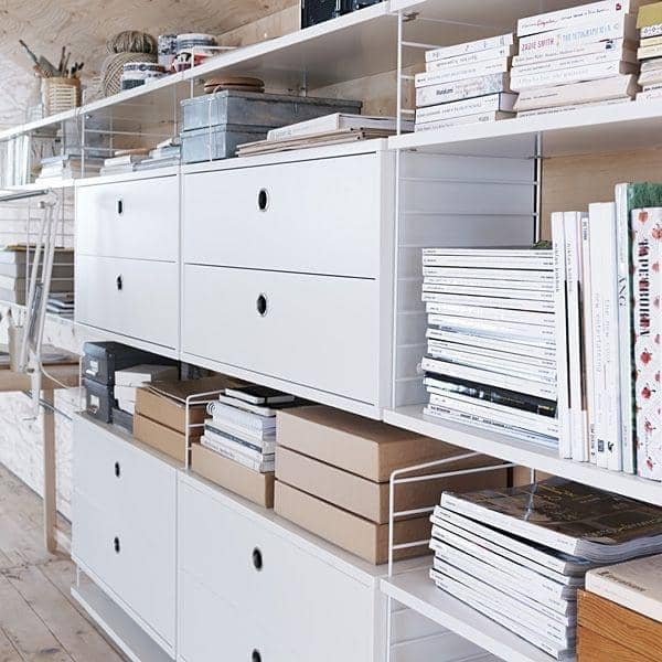 STRING SYSTEM ، إنشاء وحدات التخزين الخاصة بك system ، من الألف إلى الياء - النسخة الأصلية، تم تصميمها وتصنيعها في السويد - ديكو والتصميم