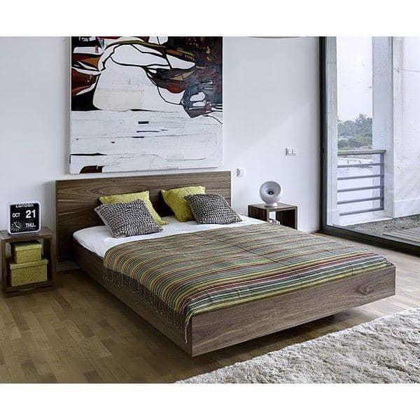 seng 160 cm FLOAT, en seng 153 x 200 cm, 160 x 200 cm eller 180 x 200 cm, TEMAHOME seng 160 cm