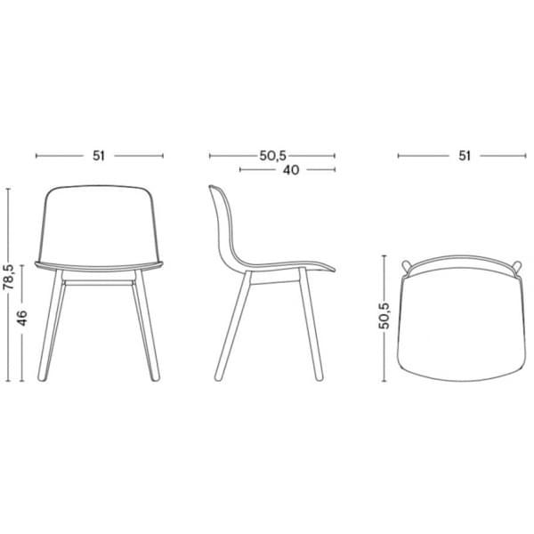 La chaise About a Chair par HAY - réf. AAC12 et AAC12 DUO - assise en polypropylène, piétement en bois, chêne ou frêne - l'art d