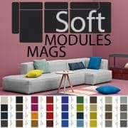 MAGS SOFA SOFT, with Inverted seams, Modular units, fabrics and leathers: create your own sofa