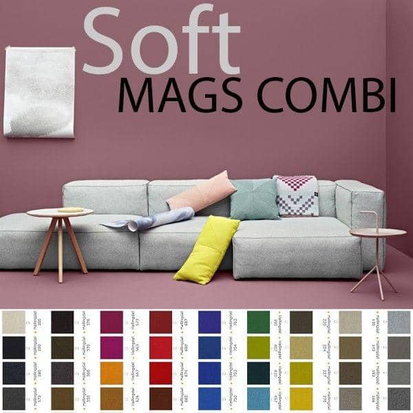 mags sofa soft with inverted seams combinations fabrics. Black Bedroom Furniture Sets. Home Design Ideas