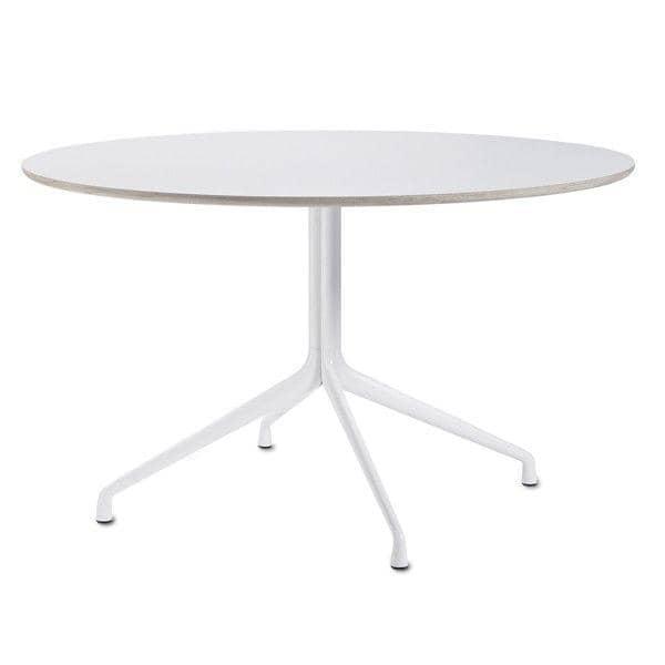 AAT20 rundt spisebord, krydsfiner, aluminiumben, HAY
