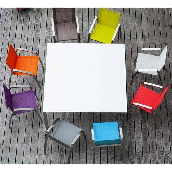 ALCEDO כורסא, ספציפית לשולחנות אוכל, נירוסטה BATYLINE Ref 2MD ו2MR, שנעשו באירופה, על ידי TODUS