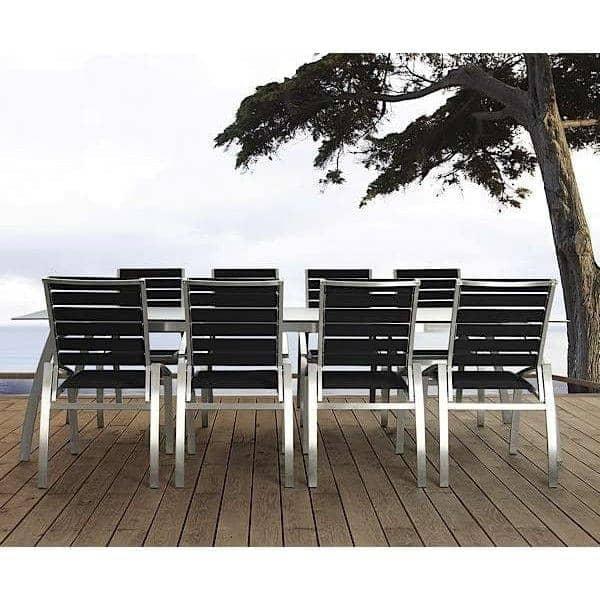 Chair, ALCEDO - EB, acciaio inox e cinghie elastiche, interno ed esterno, realizzato in Europa da TODUS - creazione di JIRI SPANIHEL