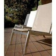 Lounge chair, ALCEDO, stainless steel and BATYLINE, indoor and outdoor, made in Europe
