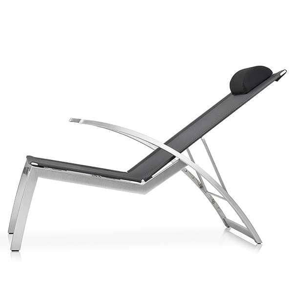 Multiposition lounge lænestol, ALCEDO, rustfrit stål og BATYLINE, indendørs og udendørs, lavet i Europa ved TODUS - designet af JIRI SPANIHEL