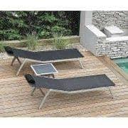 Sunlounger, ALCEDO, rustfrit stål og BATYLINE, indendørs og udendørs, lavet i Europa ved TODUS - designet af JIRI SPANIHEL