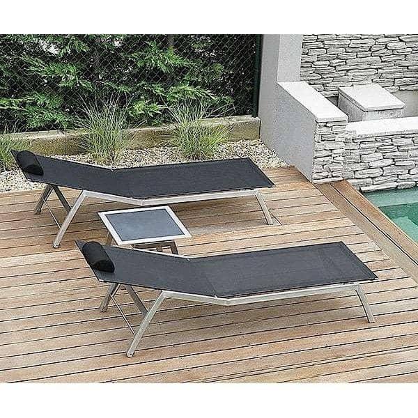 躺床, ALCEDO ,不锈钢和BATYLINE ,室内和室外,所提出的在欧洲TODUS -由设计JIRI SPANIHEL