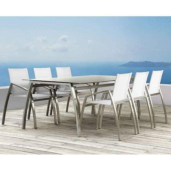 שולחן אוכל, ALCEDO FORNIX F2 ידי TODUS, TODUS נצחיים, חזקים, נקיים, עם או בלי הרחבה: מושלם לשימוש על המרפסת או בסלון שלך