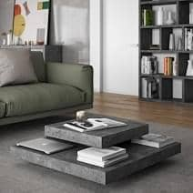 SLATE, coffee table : The concrete effect with the flexibility of lightweight materials - designed by INÊS MARTINHO