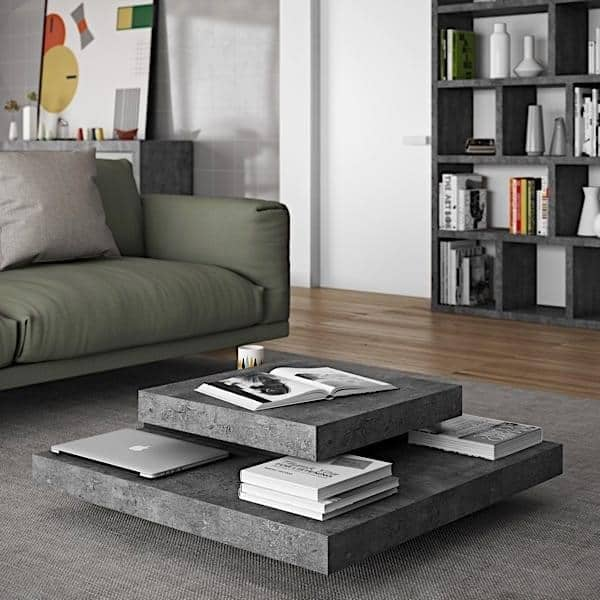 SLATE, coffee table : The concrete effect with the ...