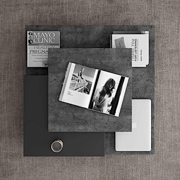 SLATE שולחן קפה: אפקט הבטון עם הגמישות של חומרים קלים - שעוצב על ידי IN ES MARTINHO
