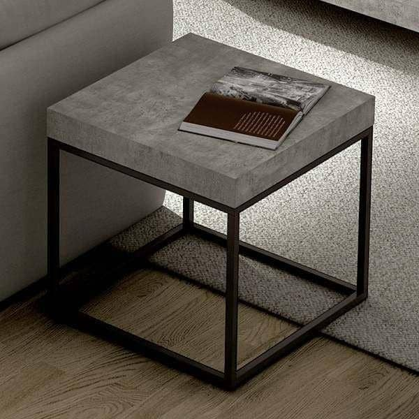 Side Table Modern Design.Petra Coffee Table And Side Table Concrete Aspect And Steel Without Concrete Designed By Ines Martinho
