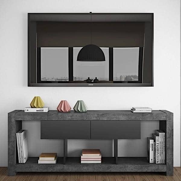 NARA, Meuble TV qui trouvera sa place adossé à un mur ou au milieu du salon  -> Tv Encastrable