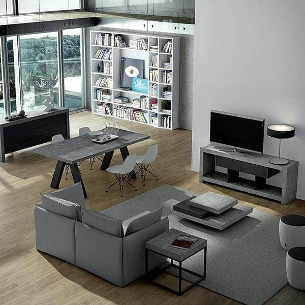 APEX spisebord, kompakt eller forlængeligt 200/250 cm x 100 cm: Beton aspekt