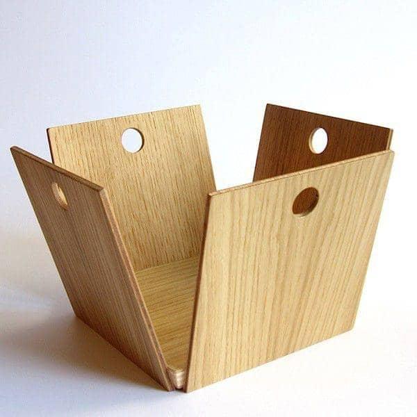 12 pommes fruit basket oak plywood reine m re. Black Bedroom Furniture Sets. Home Design Ideas