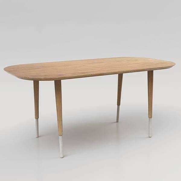 HEPBURN, mesa de comedor, madera maciza de roble, eco-diseño