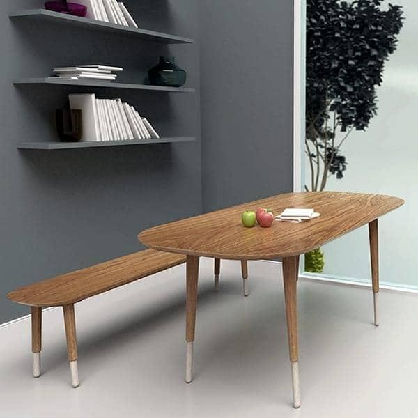 hepburn bank eiche massiv reine m re. Black Bedroom Furniture Sets. Home Design Ideas