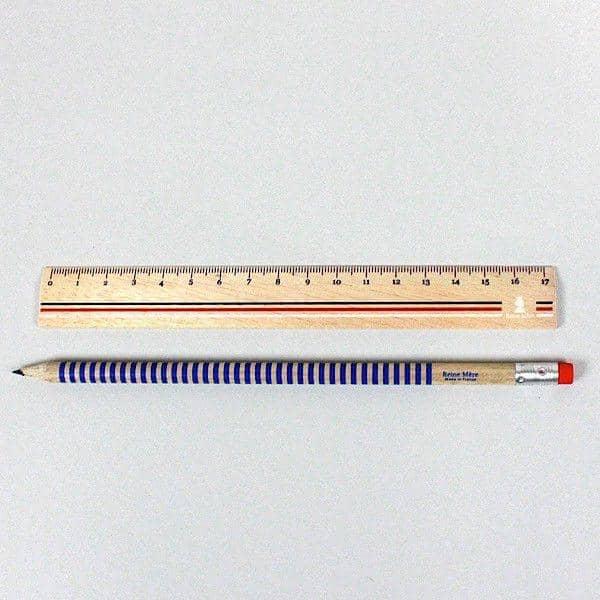 la règle et le crayon français, set comprenant une règle et un crayon, bois de Pulay, design éco-responsable