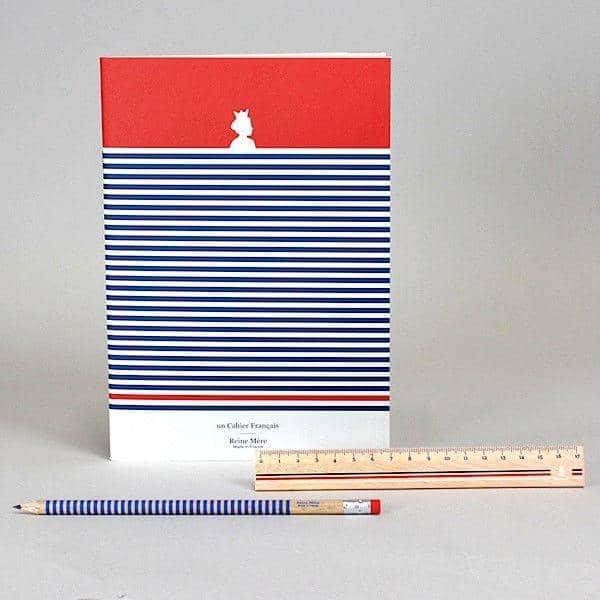 LA RÈGLE ET LE CRAYON FRANÇAIS, ruler and pencil set, Pulay wood, eco-design