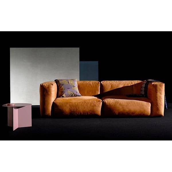 MAGS SOFA SOFT, modules in leather, inverted seams, create your own sofa