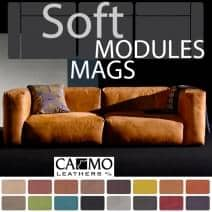 Sofa MAGS SOFT en cuir, les modules.