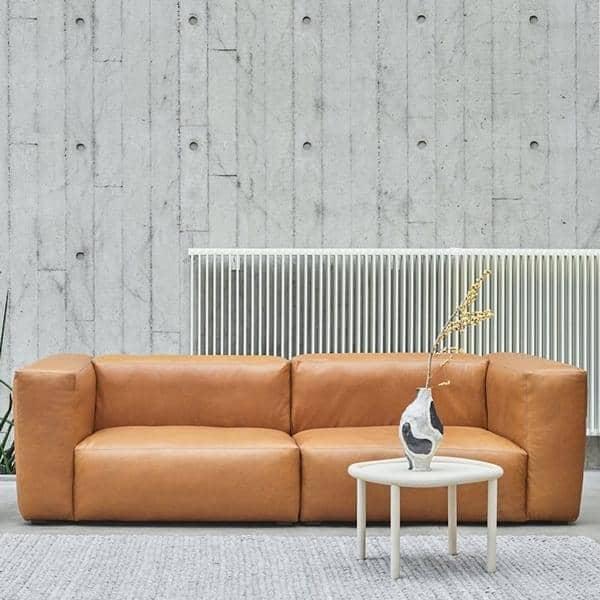 MAGS SOFA SOFT, moduler i lær, inverterte sømmer, lag din egen sofa, HAY