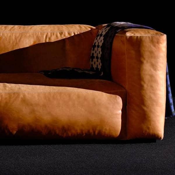 MAGS SOFA SOFT, combinaciones modulares, en piel, HAY