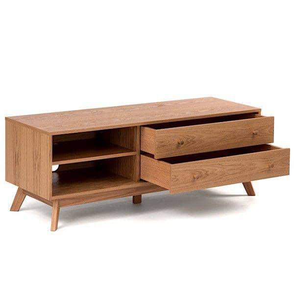 meuble tv kensay 130 x 45 x 50 cm en ch ne leonhard pfeifer. Black Bedroom Furniture Sets. Home Design Ideas