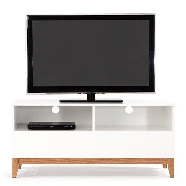 online store 98cdb 9689f BLANCO tv unit, 120 x 48 x 55 cm, made in solid oak and white painted wood,  1 large drawer