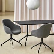 AAT10 ορθογώνιο τραπέζι, κόντρα πλακέ, πόδια αλουμινίου, HAY.