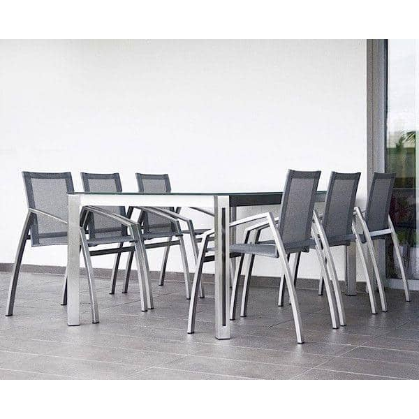 ARIA spisebord eller salongbord, HPL versjon av TODUS, godt utvalg av dimensjoner, robuste, rene linjer: perfekt for bruk på terrassen eller i stua